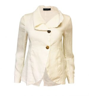 Neirami Cream Linen Jacket NEIRAMI CS1104-20/RICE
