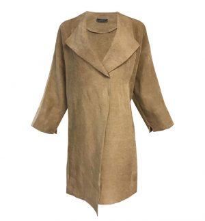 Neirami Cardboard Overcoat in Dark Sand CS1106-20CARDBOARD