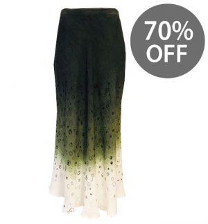 Julitta Long Skirt in Circular Pattern