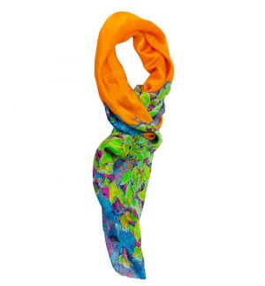 Laura Orchant Athena's Garden Scarf in Greens L148GRSS130