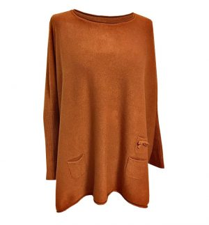 Burnt Orange Pocket Top