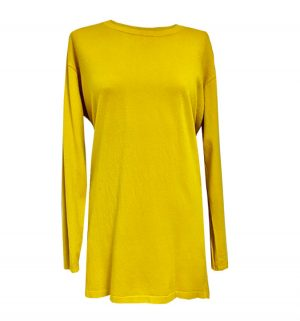 Back Detail Long Top Yellow