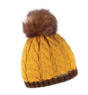 Sabbot Andrea Pompom Hat Mustard