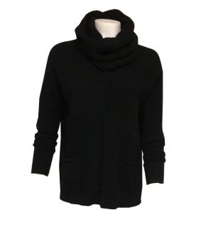 Black Jumper with Scarf
