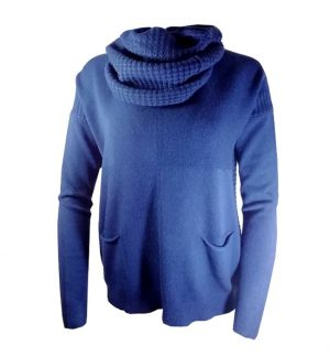 Blue Jumper with Scarf