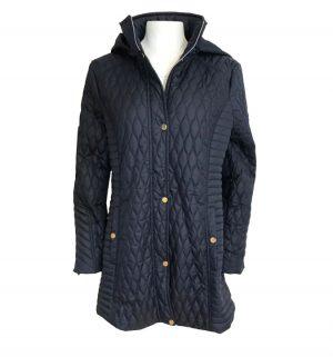 Olsen Navy Quilted Coat
