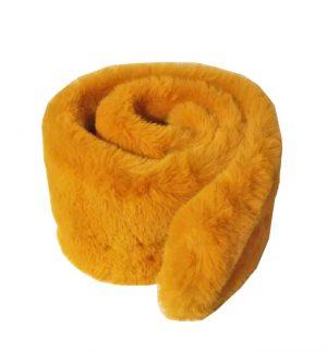 Yellow Faux Fur Scarf